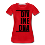 Divine DNA / Perfectly Basic Women's Tee / Black Graphic - red