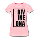 Divine DNA / Perfectly Basic Women's Tee / Black Graphic - pink