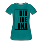 Divine DNA / Perfectly Basic Women's Tee / Black Graphic - teal