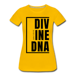Divine DNA / Perfectly Basic Women's Tee / Black Graphic - sun yellow