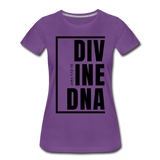 Divine DNA / Perfectly Basic Women's Tee / Black Graphic - purple