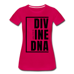 Divine DNA / Perfectly Basic Women's Tee / Black Graphic - dark pink