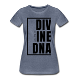 Divine DNA / Perfectly Basic Women's Tee / Black Graphic - heather blue
