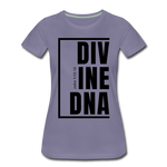 Divine DNA / Perfectly Basic Women's Tee / Black Graphic - washed violet