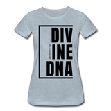 Divine DNA / Perfectly Basic Women's Tee / Black Graphic - heather ice blue