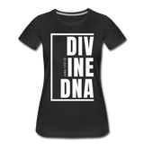 Divine DNA / Perfectly Basic Women's Tee /  White Graphic - black
