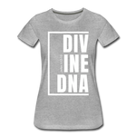 Divine DNA / Perfectly Basic Women's Tee /  White Graphic - heather gray