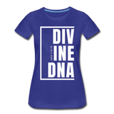 Divine DNA / Perfectly Basic Women's Tee /  White Graphic - royal blue