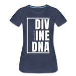 Divine DNA / Perfectly Basic Women's Tee /  White Graphic - navy