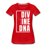 Divine DNA / Perfectly Basic Women's Tee /  White Graphic - red