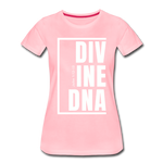 Divine DNA / Perfectly Basic Women's Tee /  White Graphic - pink