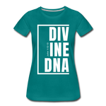 Divine DNA / Perfectly Basic Women's Tee /  White Graphic - teal