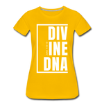 Divine DNA / Perfectly Basic Women's Tee /  White Graphic - sun yellow