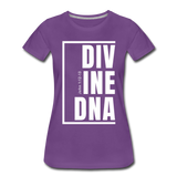 Divine DNA / Perfectly Basic Women's Tee /  White Graphic - purple