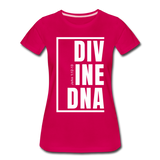 Divine DNA / Perfectly Basic Women's Tee /  White Graphic - dark pink