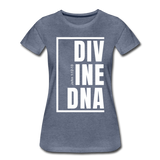 Divine DNA / Perfectly Basic Women's Tee /  White Graphic - heather blue