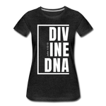 Divine DNA / Perfectly Basic Women's Tee /  White Graphic - charcoal gray