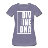 Divine DNA / Perfectly Basic Women's Tee /  White Graphic - washed violet