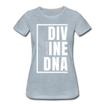 Divine DNA / Perfectly Basic Women's Tee /  White Graphic - heather ice blue