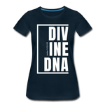 Divine DNA / Perfectly Basic Women's Tee /  White Graphic - deep navy