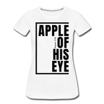 Apple of His Eye / Perfectly Basic Women's Tee / Black Graphic - white