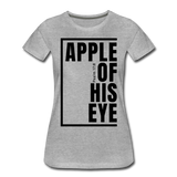 Apple of His Eye / Perfectly Basic Women's Tee / Black Graphic - heather gray