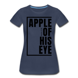Apple of His Eye / Perfectly Basic Women's Tee / Black Graphic - navy