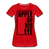Apple of His Eye / Perfectly Basic Women's Tee / Black Graphic - red