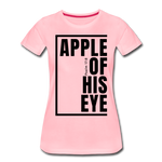 Apple of His Eye / Perfectly Basic Women's Tee / Black Graphic - pink