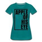 Apple of His Eye / Perfectly Basic Women's Tee / Black Graphic - teal
