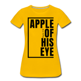 Apple of His Eye / Perfectly Basic Women's Tee / Black Graphic - sun yellow