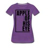 Apple of His Eye / Perfectly Basic Women's Tee / Black Graphic - purple