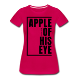 Apple of His Eye / Perfectly Basic Women's Tee / Black Graphic - dark pink