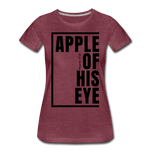 Apple of His Eye / Perfectly Basic Women's Tee / Black Graphic - heather burgundy