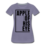 Apple of His Eye / Perfectly Basic Women's Tee / Black Graphic - washed violet