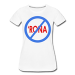 No 'Rona / Perfectly Basic Women's Tee / Blue & Red Clean - white