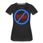 No 'Rona / Perfectly Basic Women's Tee / Blue & Red Clean - black