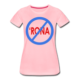 No 'Rona / Perfectly Basic Women's Tee / Blue & Red Clean - pink