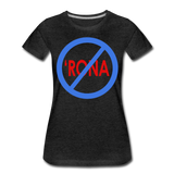 No 'Rona / Perfectly Basic Women's Tee / Blue & Red Clean - charcoal gray