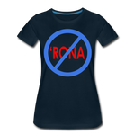 No 'Rona / Perfectly Basic Women's Tee / Blue & Red Clean - deep navy