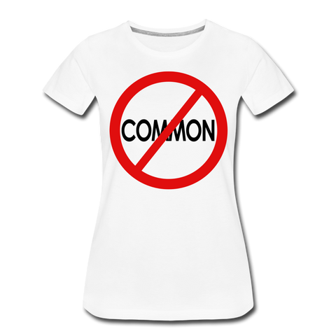 Uncommon / Perfectly Basic Women's Tee / Red & Black - white