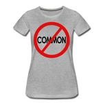 Uncommon / Perfectly Basic Women's Tee / Red & Black - heather gray