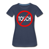 Don't Touch / Perfectly Basic Women's Tee / Red & White - navy