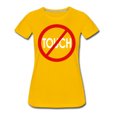 Don't Touch / Perfectly Basic Women's Tee / Red & White - sun yellow