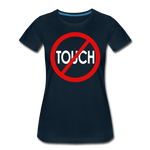 Don't Touch / Perfectly Basic Women's Tee / Red & White - deep navy
