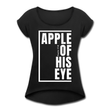 Apple of His Eye / Women's Tennis Tail Tee / White - black