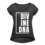 Divine DNA / Women's Tennis Tail Tee / White - heather black