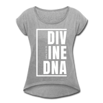 Divine DNA / Women's Tennis Tail Tee / White - heather gray