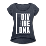 Divine DNA / Women's Tennis Tail Tee / White - navy heather