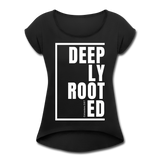 Deeply Rooted / Women's Tennis Tail Tee / White - black